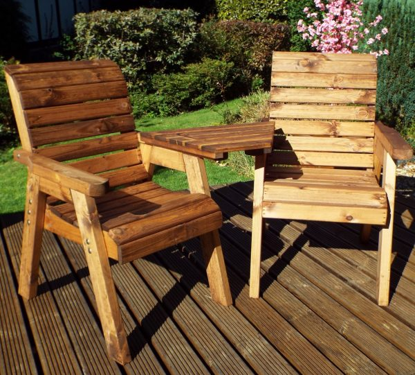 2 Sater Garden / Patio Set with Removable Angled Drinks Tray