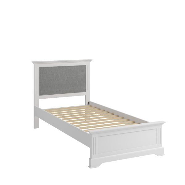 Sally Classic White Single Bed Frame-0