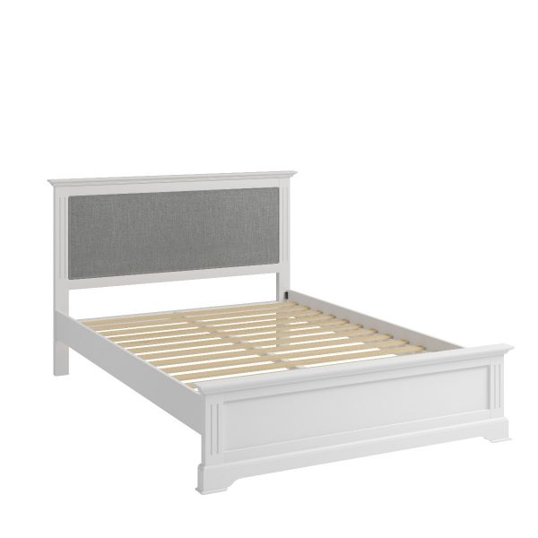 Sally Classic White Double Bed Frame-0