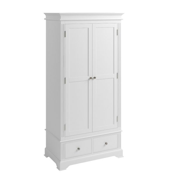 Sally Classic White 2 Door Wardrobe-0