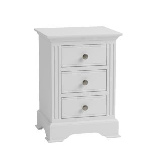 Sally Classic White Bedside Table Large-0