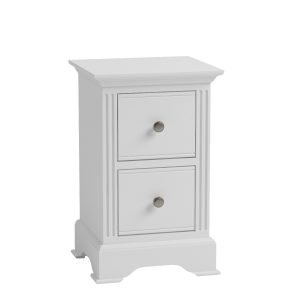 Sally Classic White Bedside Table Small-0