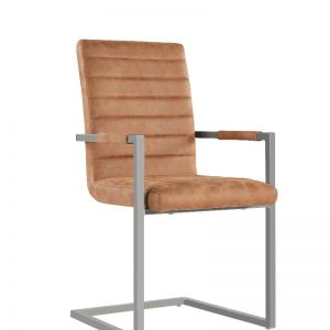 Anslo Brown Leather Dining Chair - Pack of 2 -0