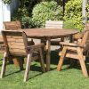 Six Seater Circular Table and Six Chairs Dining Set-0