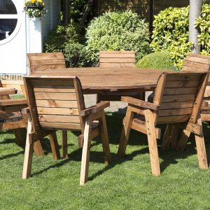 Eight Seater Circular Table and Eight Chairs Dining Set-0