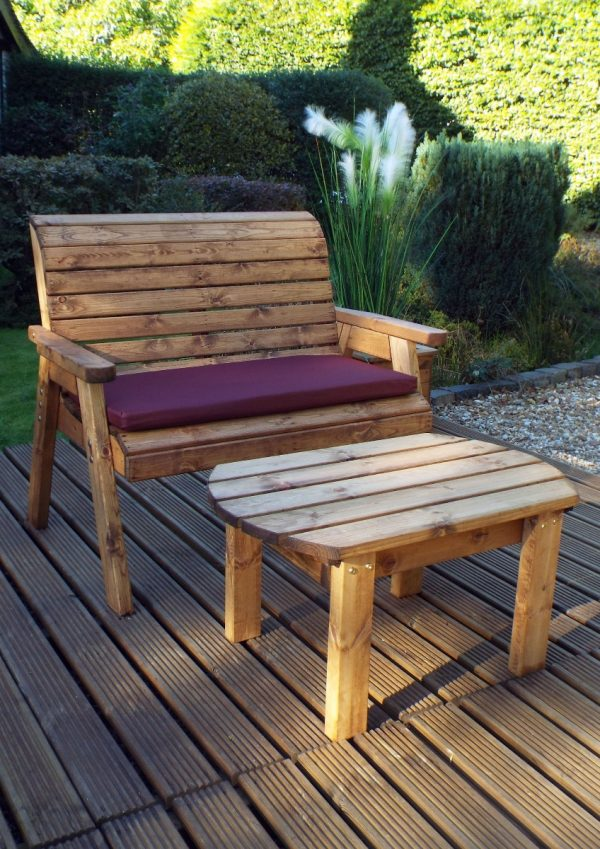 2 Seat Bench Cushion in Burgundy-61