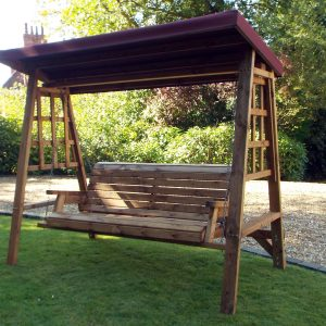 Dorset 3 Seat Swing (Burgundy Roof Cover)-0