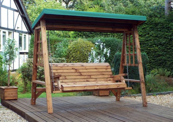 Dorset 3 Seat Swing (Green Roof Cover)-0