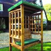 Bramham 2 Seat Arbour (Green Roof Cover)-0