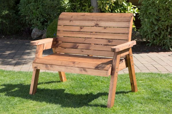Solid Wood Traditional Two Seater Bench-51