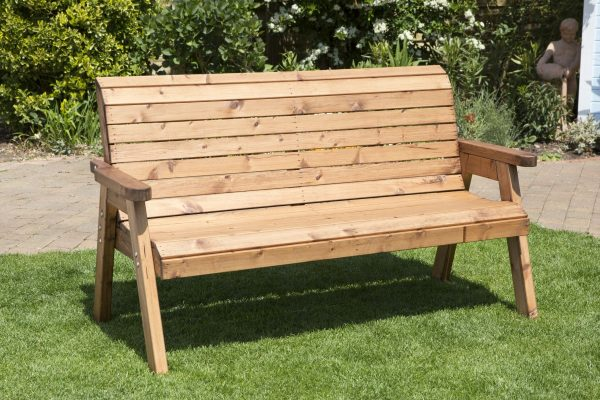 Solid Wood Traditional Three Seater Bench-54