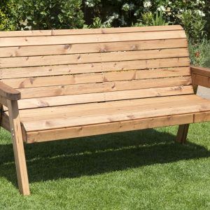 Solid Wood Traditional Three Seater Bench-0