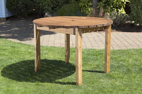 Four Seater Solid Wood Round Garden Patio Table-0