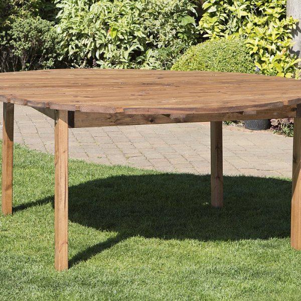 Eight Seater Solid Wood Round Garden Patio Table-0