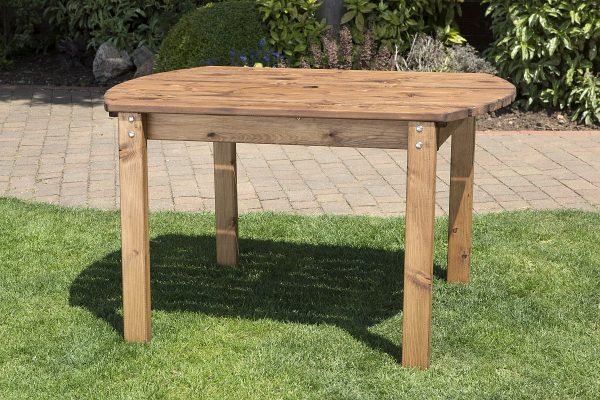 Four Seater Solid Wood Rectangular Garden Patio Table-0