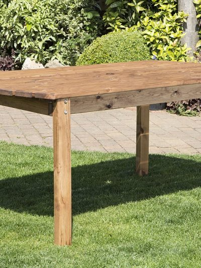 Six Seater Solid Wood Rectangular Garden Patio Table-0