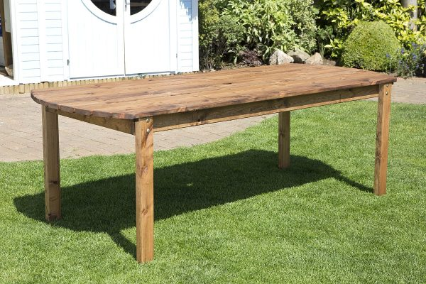 Eight Seater Solid Wood Rectangular XL Garden / Patio Table, Benches and Chair Set-115