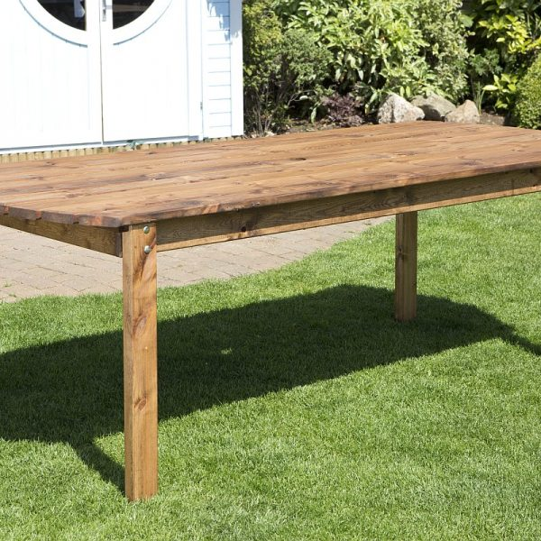 Eight Seater Solid Wood Rectangular Garden Patio Table-0