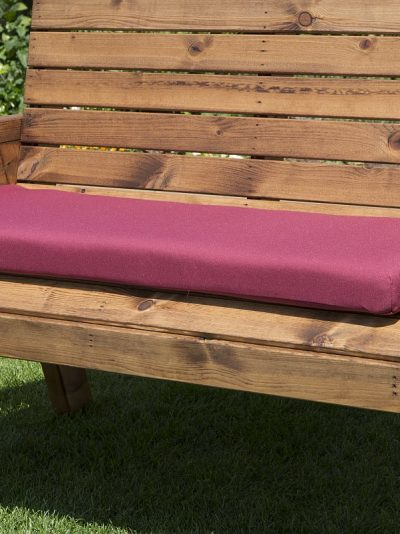2 Seat Bench Cushion in Burgundy-0