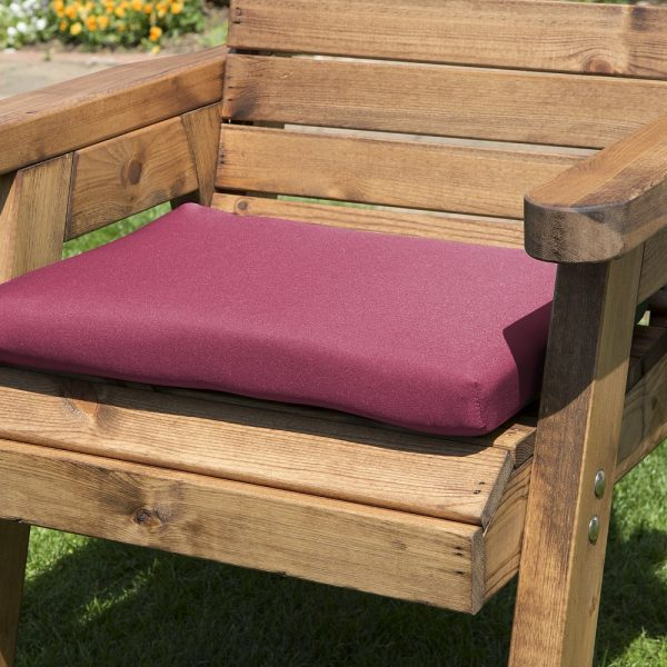 Single Chair Cushion Burgundy-0