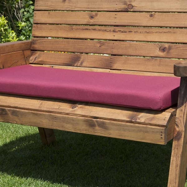 3 Seat Bench Cushion in Burgundy-0