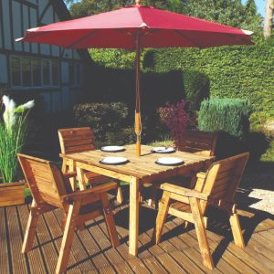 4 Seater Deluxe Square Table and Four Chairs Set-0