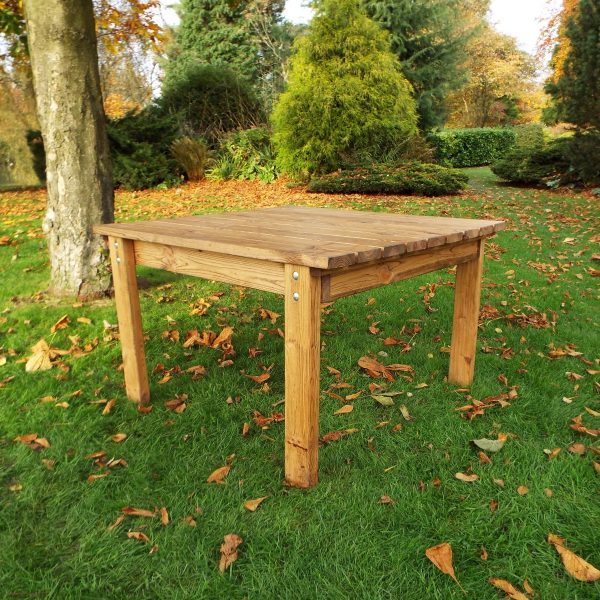 Four Seater Solid Wood Square Garden Patio Table-0
