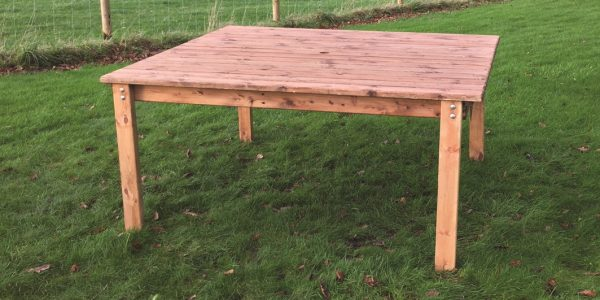 Eight Seater Solid Wood Square Garden Patio Table-0
