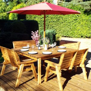 8 Seater Deluxe Square Table Set All Bench-0