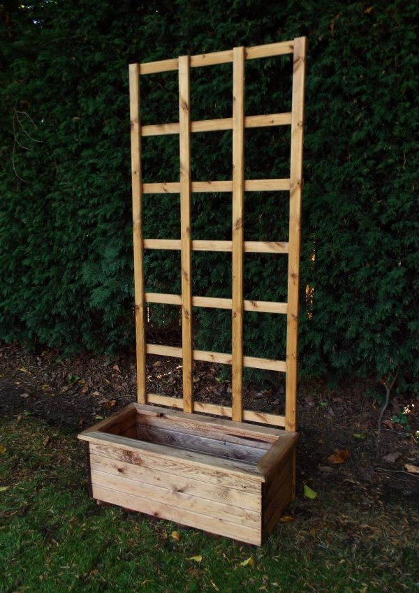 Traditional Medium Trough Planter with Trellis-189