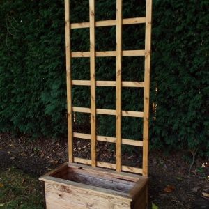 Traditional Medium Trough Planter with Trellis-0