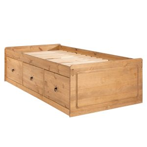 Farmhouse Antique Pine Cabin Bed-0