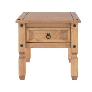 Farmhouse Solid Pine Wood Lamp Table-0