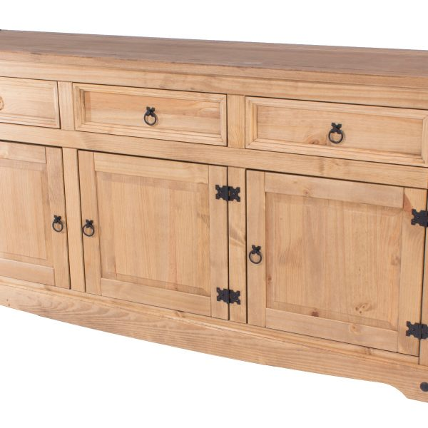 Farmhouse Antique Pine Large Sideboard-0